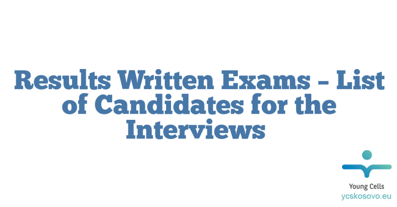 Results Written Exams – List of Candidates for the Interviews