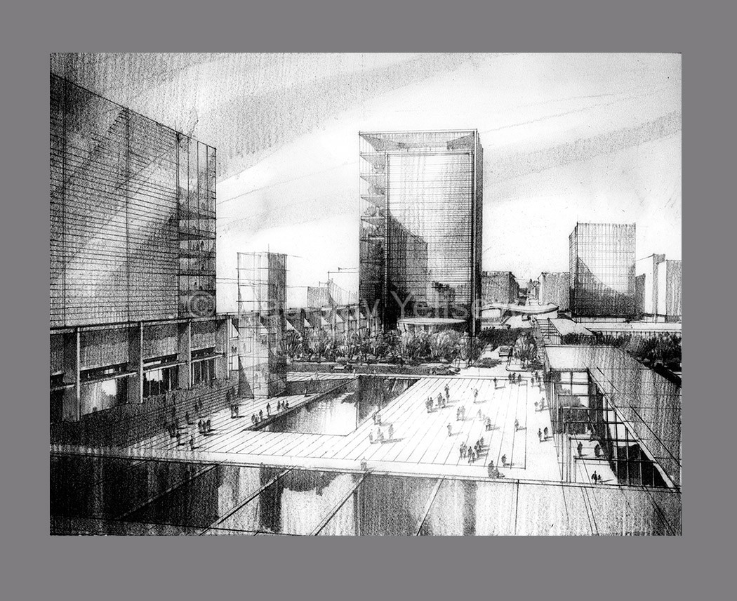 Architectual Illustrations Graphite Pencil Renderings Vladislav Yeliseyev