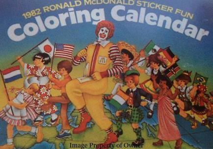 1982 Sticker Colouring Calendar