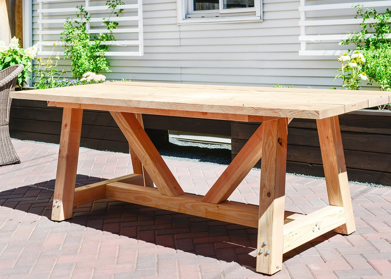 Diy Patio Table And Chairs Plans To Build Wood Picnic Table Quick Woodworking Projects