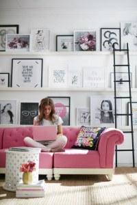 Pinspiration: Girly interior inspiration - Yellow Feather