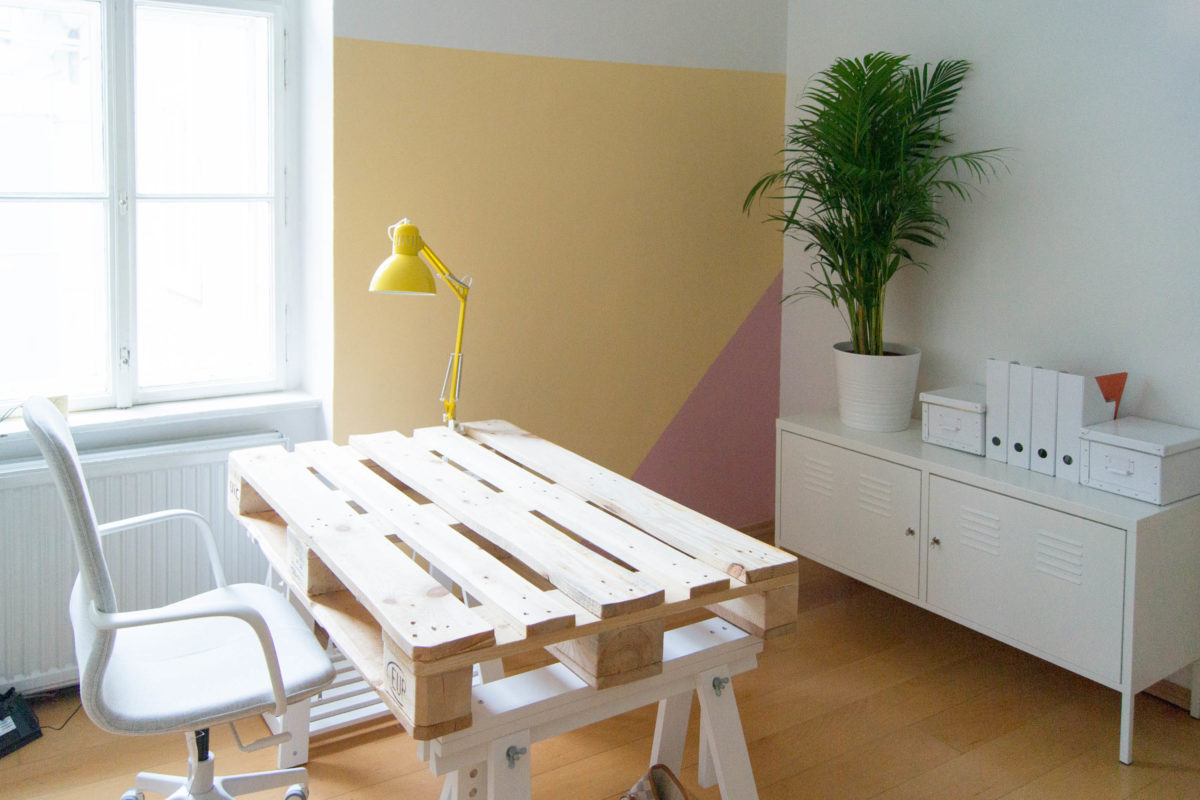 Yellowgirls Büro Update Die Wandfarbe Das Diy Lifestyle Magazin