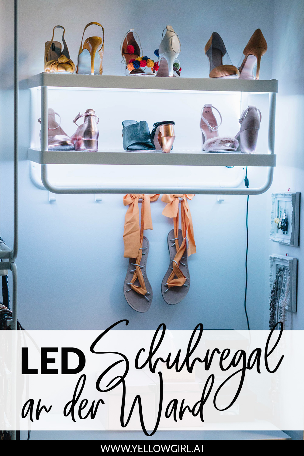 Diy Led Schuhregal An Der Wand Das Diy Lifestyle Magazin
