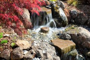 Flowing-waterfalls-perfect-for-a-vibrant-Japanese-Garden