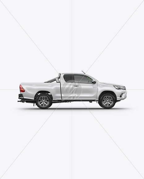 Psd Mockup Hilux Toyota Hilux Mockup - Side View In Vehicle Mockups On