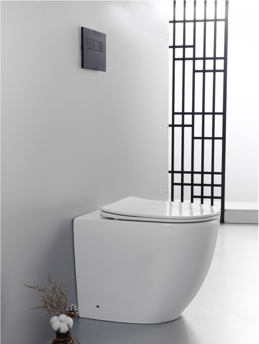Sanitari Bagno Terra Muro Wc Rimless Coprivaso Soft Close Bidet Hoop