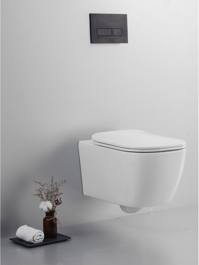 Sanitari Bagno Sospesi Muro Wc Rimless Coprivaso Soft Close Bidet Nook