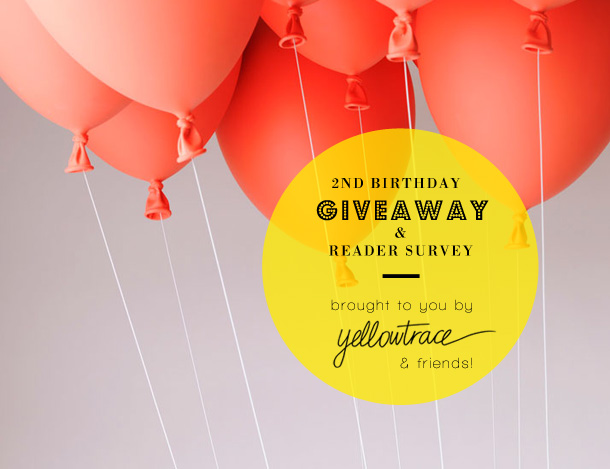 Yellowtrace 2nd Birthday | Reader Survey + Mega GIVEAWAY!!