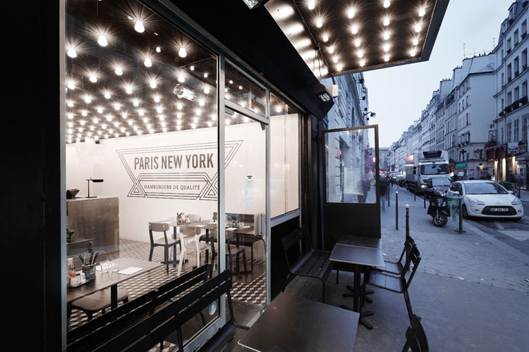 Paris New York Burger Restaurant by CUT architectures // Paris.