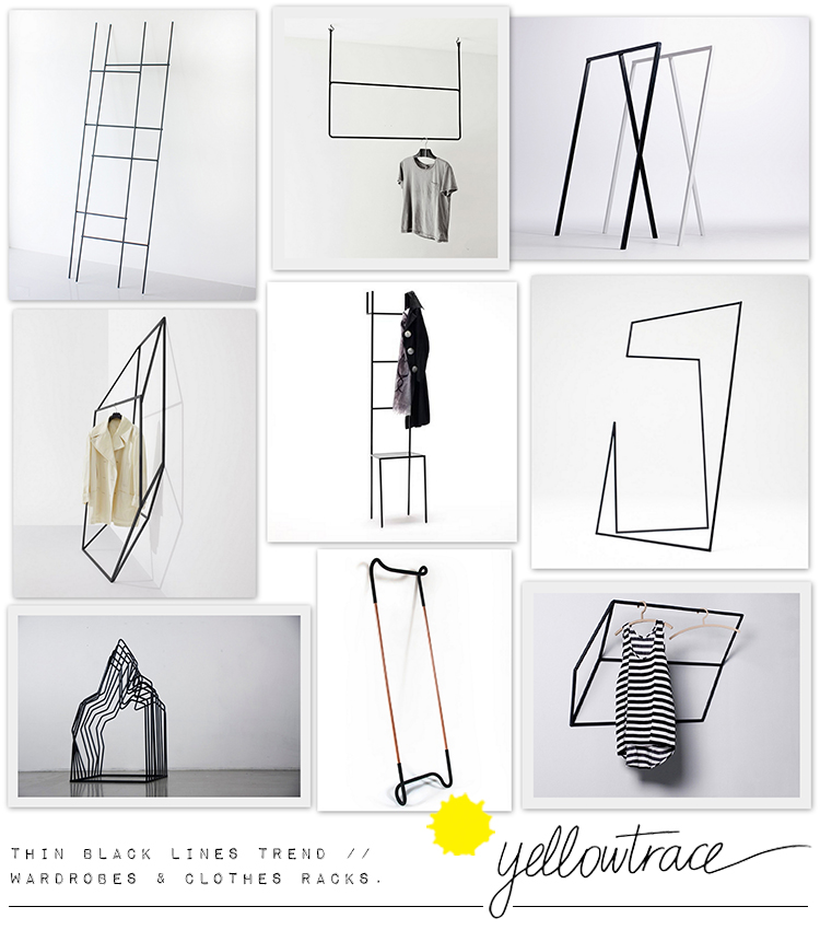 Thin Black Lines Revisited // Wardrobes & Clothes Racks.