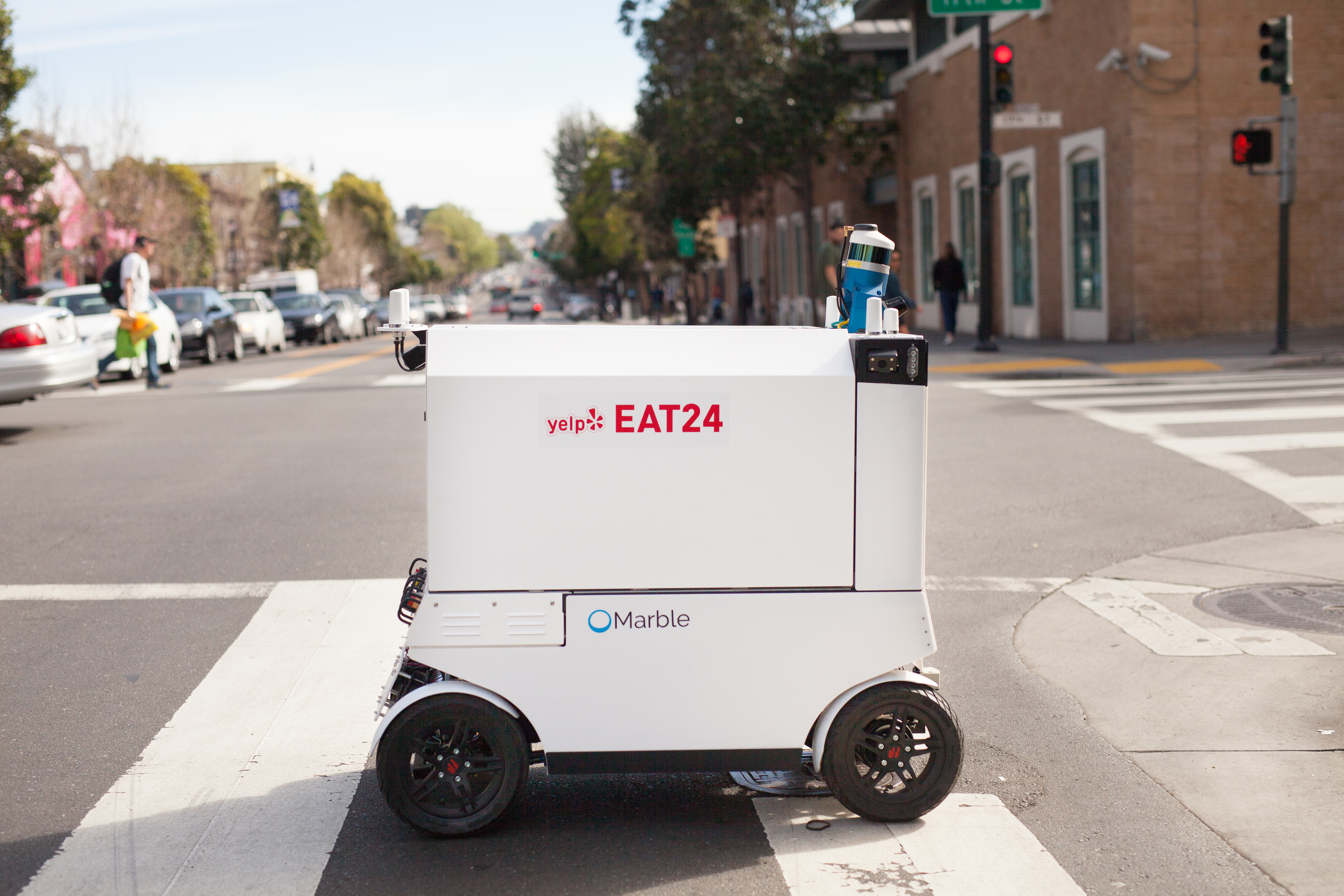 Diner Delivery The Robots Are Coming Yelp Eat24 Launches Robot Delivery Pilot
