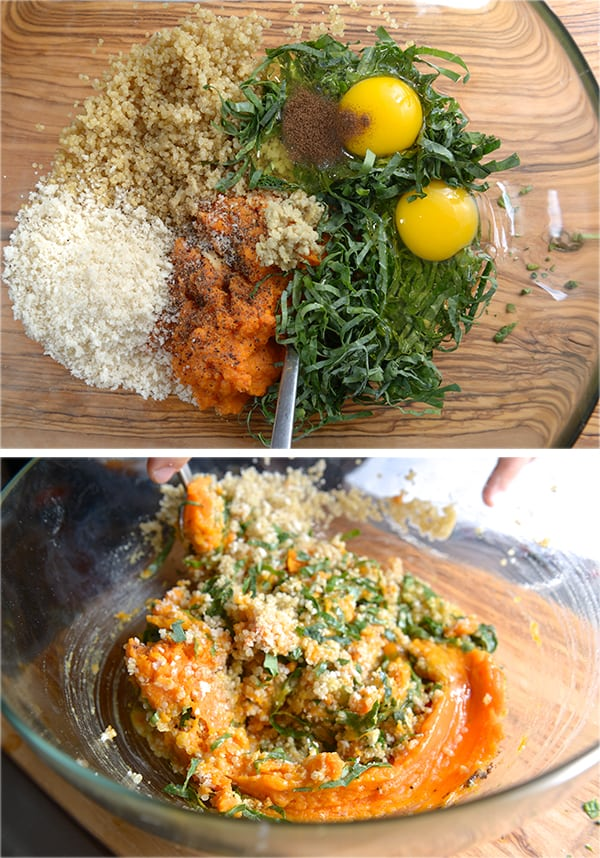 Kale-Sweetpotatoe-and-Quinoa-Fritters_Mixing-ingredients