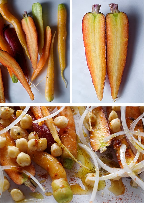 Roasted-Carrot-Salad-with-Hummus-Vinaigrette_red,-orange,-yellow-carrots