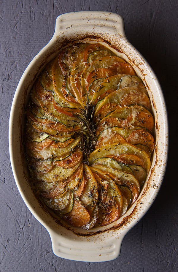 Root-a–touille a Ratatouille made with root vegetables