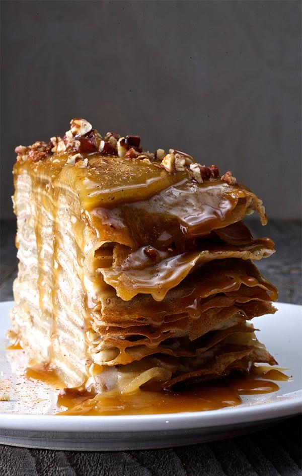 Apple Buckwheat Crepe Cake ~ Yes, more please!