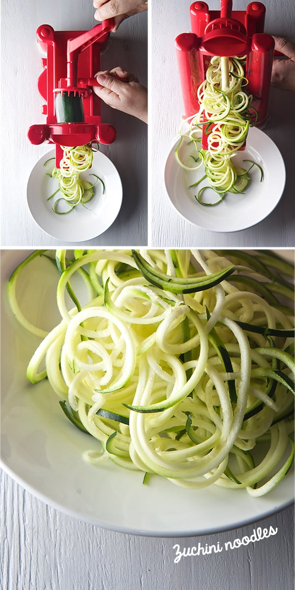 how to use a zucchini spiralizer