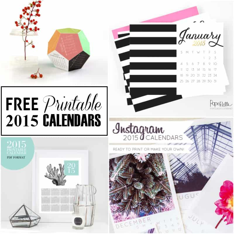 Ring In The New Year 20 Free Printable Calendars for 2015