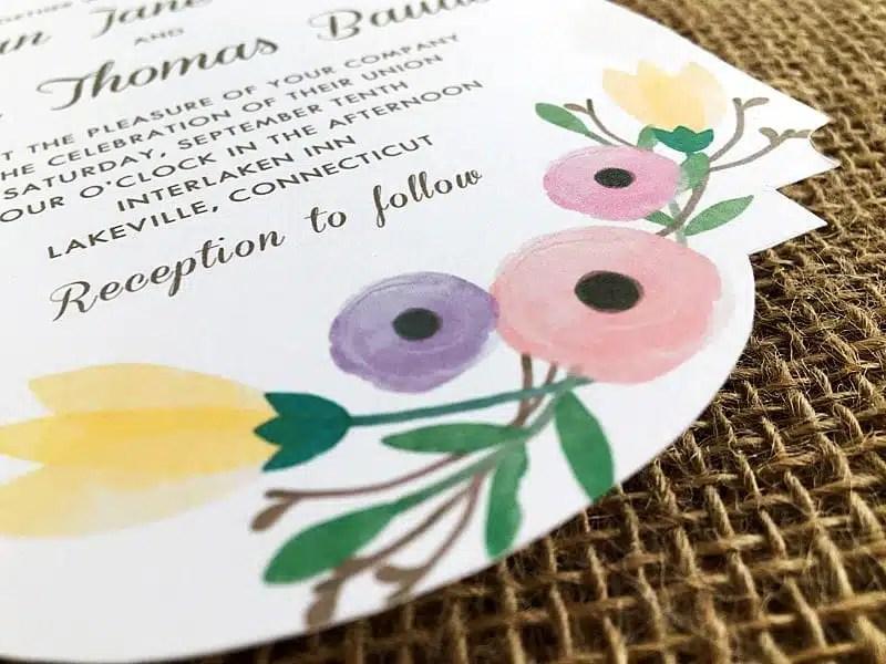 FREE DIY Watercolor Wedding Invitation Template