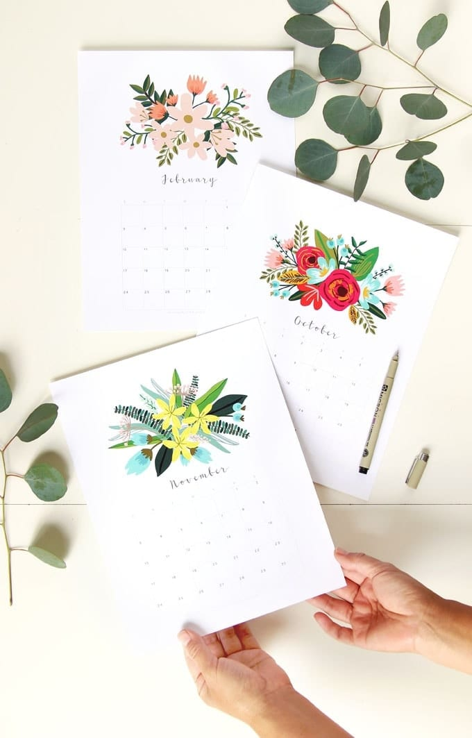20 Free Printable Calendars for 2019
