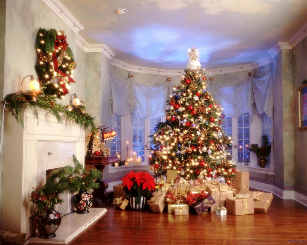 Christmas Fireplace Wallpaper Christmas Fireplace Wallpapers High Quality Download Free