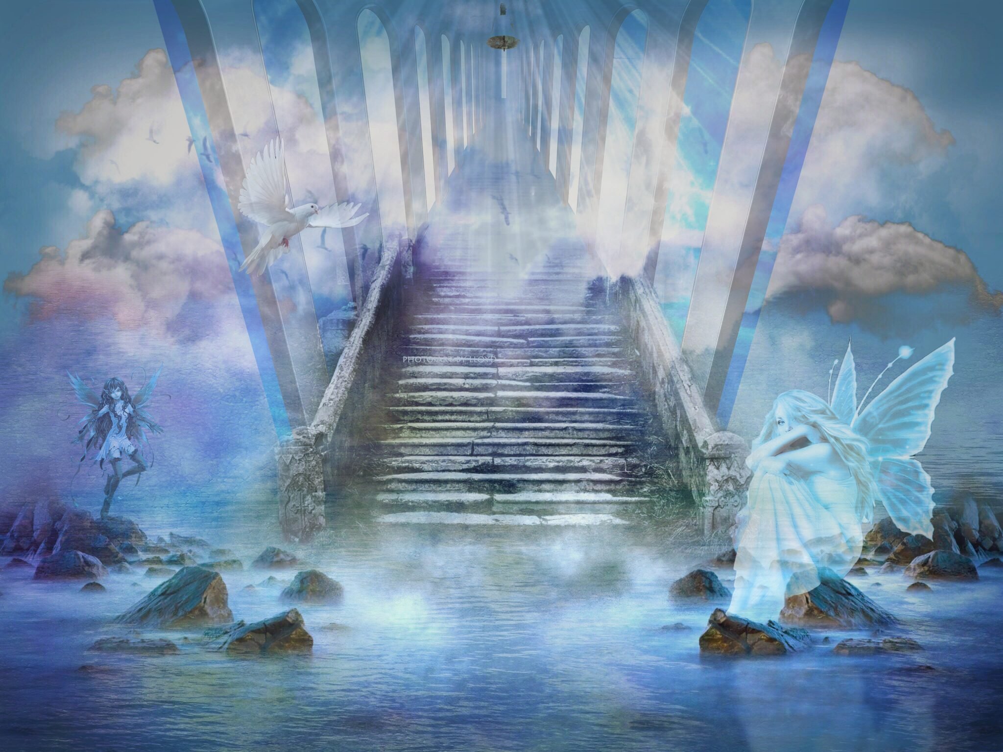 Loving Boy And Girl Hd Wallpapers Stairway To Heaven Wallpapers High Quality Download Free