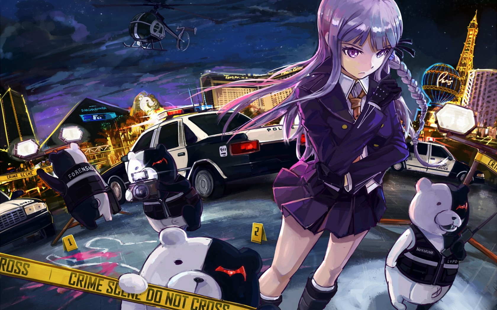 Police Officer Girl Wallpaper Danganronpa Wallpapers High Quality Download Free
