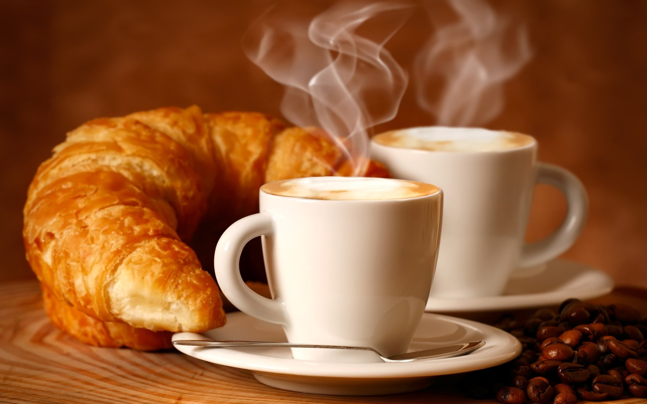Cappuccino Bilder 4k Croissants Wallpapers High Quality | Download Free