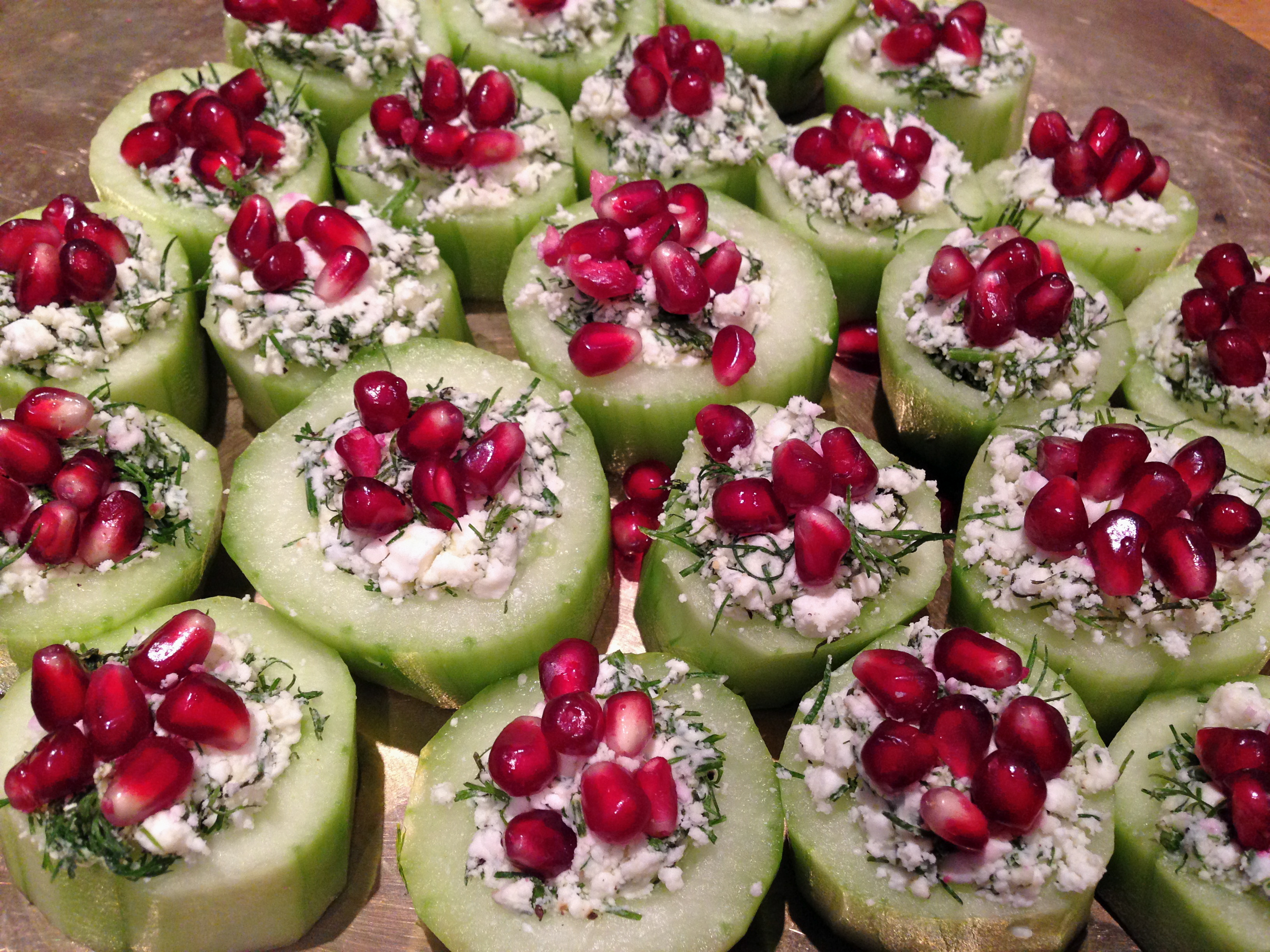 Don Canapé Cucumber Cups Canapés Yes Please