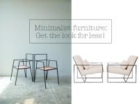 Minimalist 'skinny' furniture; get the designer look for ...
