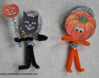 Vintage Halloween Pipe Cleaner Craft | Yesterday On Tuesday