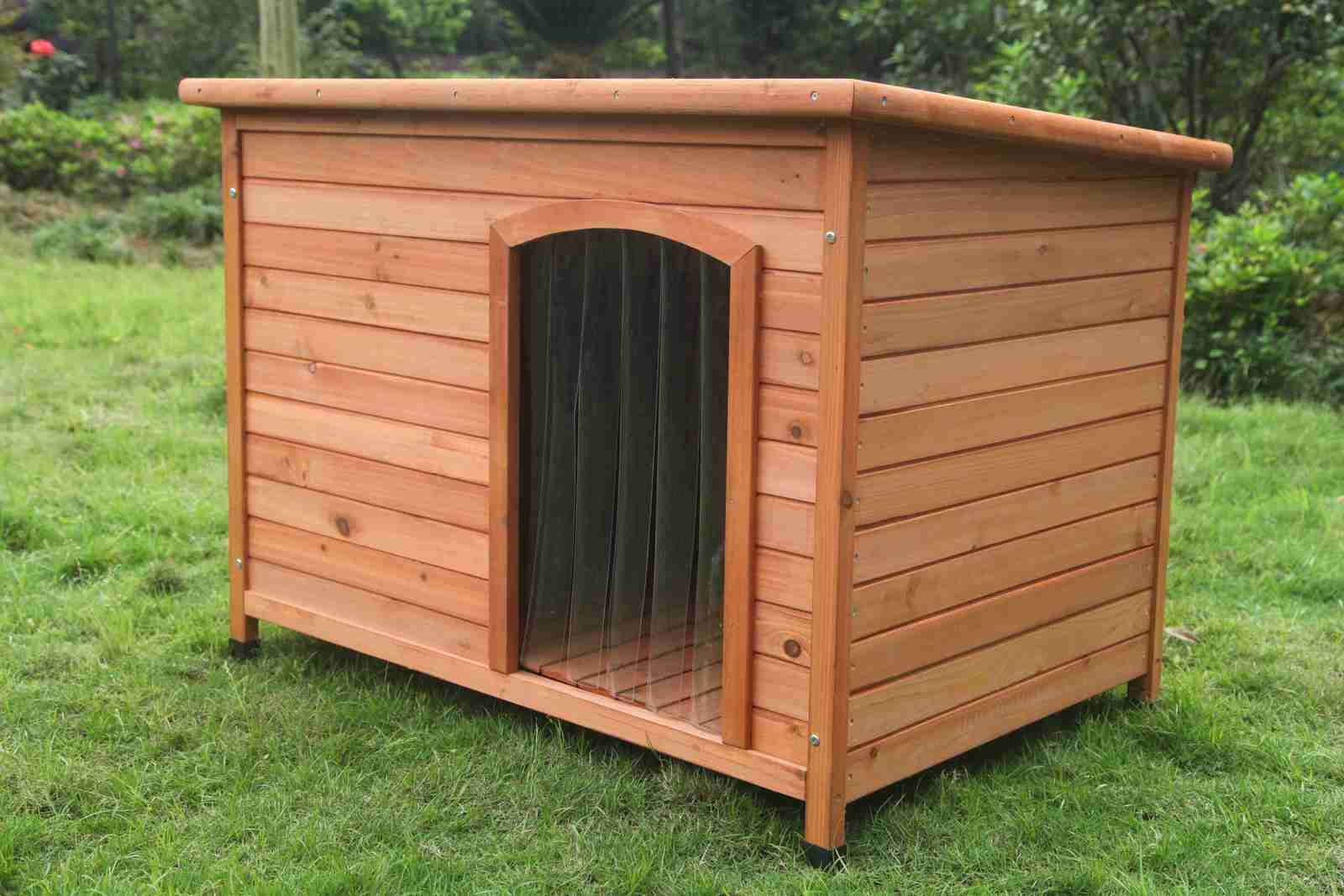 Dog House X Large Timber Log Cabin Dog Kennel Wood House W Door Strip