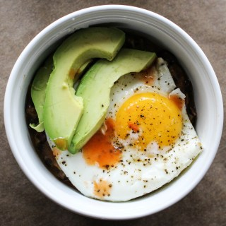 Refried Beans with Avocado & Fried Eggs | Yes to Yolks