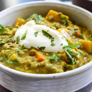 Coconut Ginger Lentil Soup with Butternut Squash | Yes to Yolks