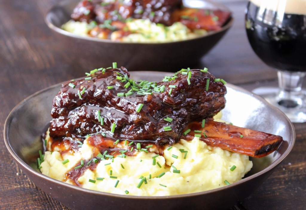 Honeyed Stout-Braised Short Ribs with Wasabi Mashed Potatoes | Yes to ...