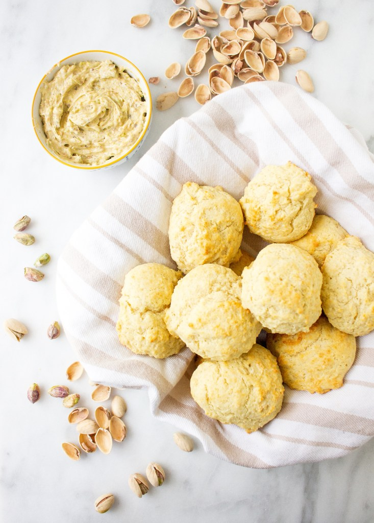 Easy Drop Biscuits with Sweet Pistachio Butter