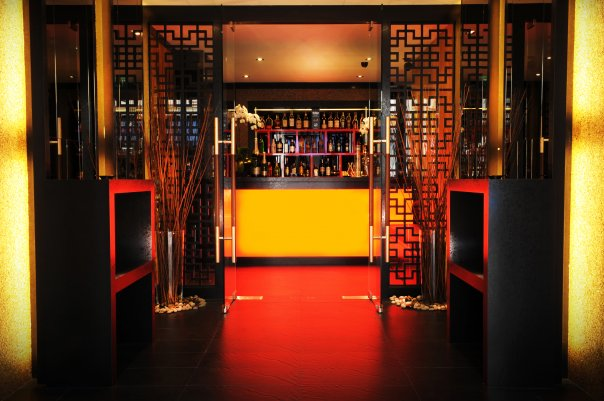 The main entrance and cashier area of upscale eatery Private Affairs.