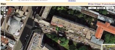 Rue Emile Dubois sur Google Map/Earth