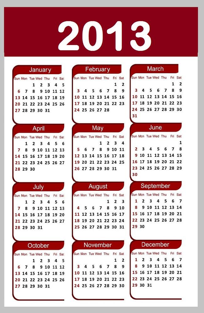 Calendar 2013 - Calendar of 2013 - 2013 Calendar - 2013 - Calendar