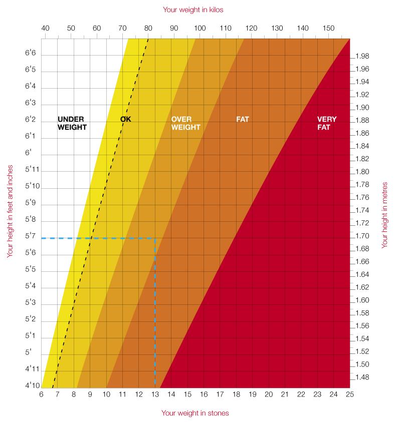 Weight Height Chart (weightheightchart) - Ygraph