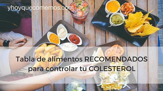 Tabla de alimentos recomendados para controlar tu colesterol y hoy qu comemos - Colesterol en alimentos tabla ...