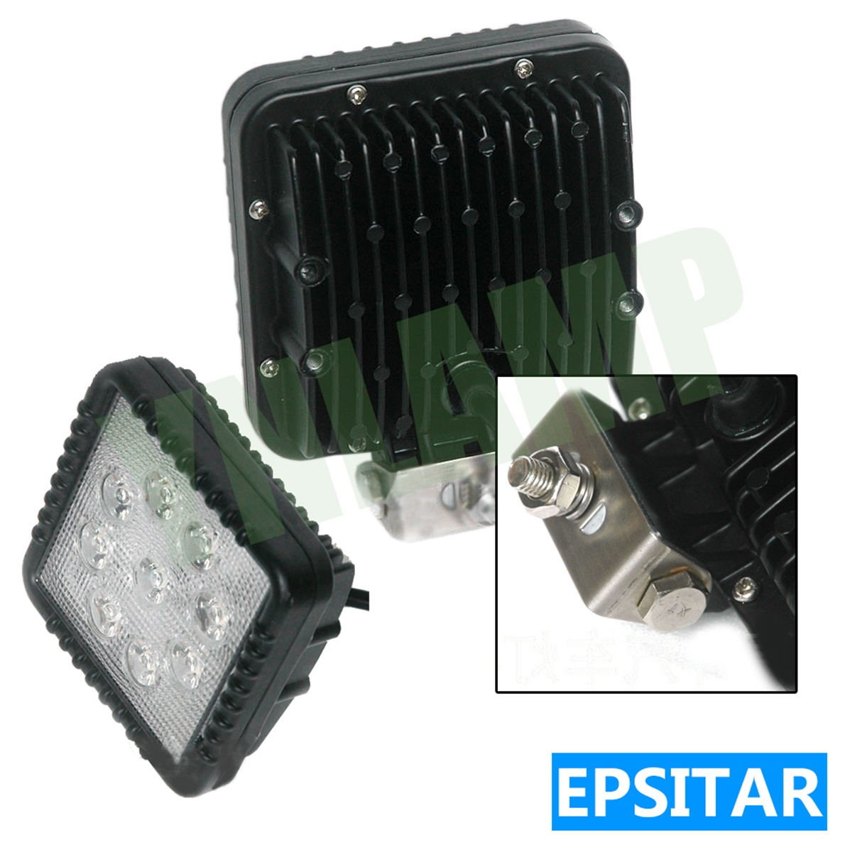 12v Ip67 12v Ip67 4 5inch 27w Epistar Round Car Offroad Light Led Work Light