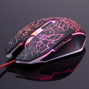 Adjustable 2400DPI Wired Gaming Mouse Cool Led Lights Effect