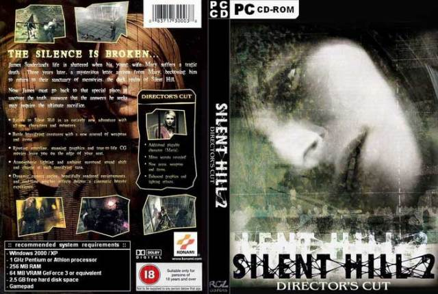 Silent Hill 2 Director's Cut CD Cover For PC