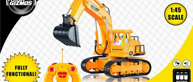 remote control excavator for kids cool toy digger