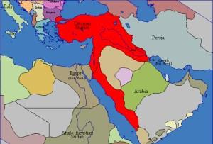 Imperio Otomano en 1914.