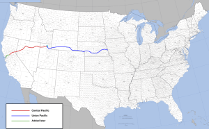 Ruta del Ferrocarril Transcontinental.