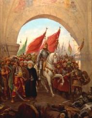 La caida de Constantinopla, por Fausto Zonaro.