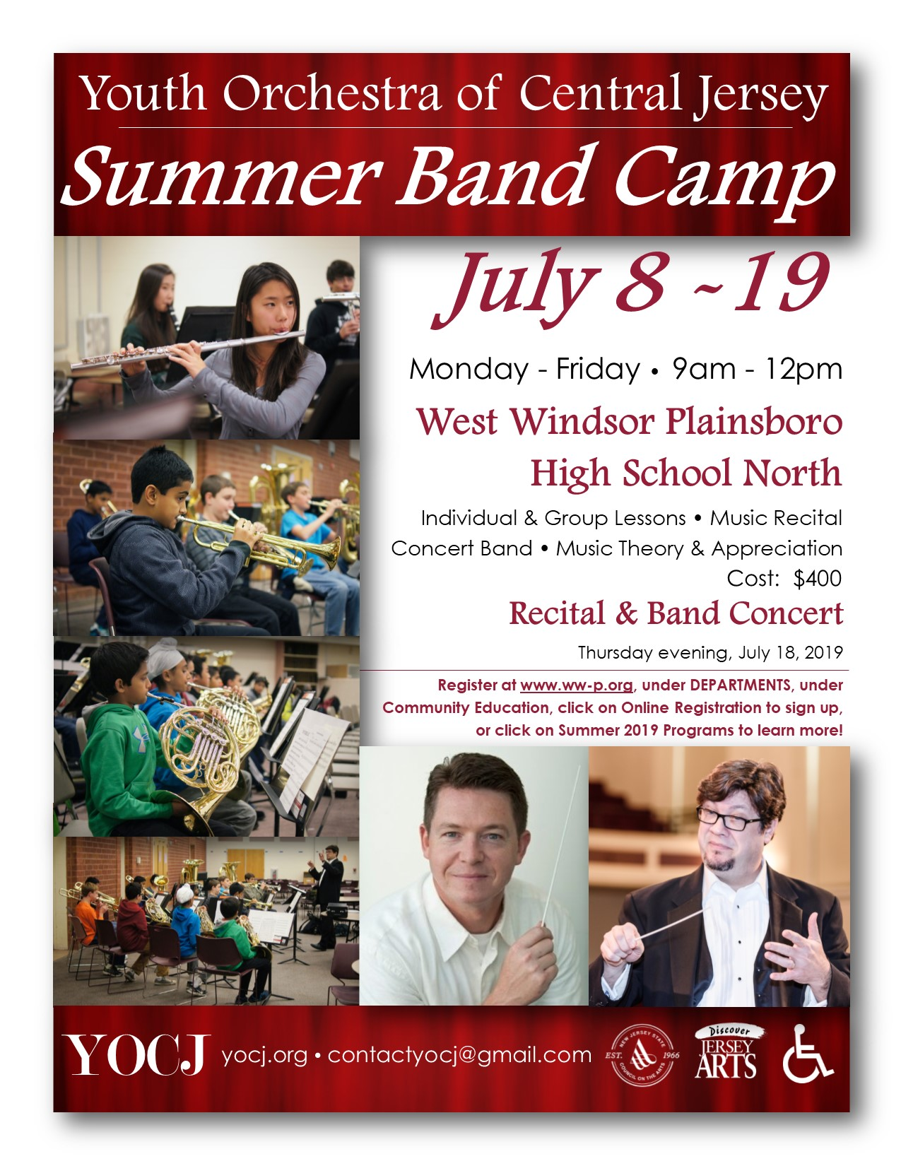 Arte Concert Jobs Summer 2019 Band Camp Youth Orchestra Of Central Jersey