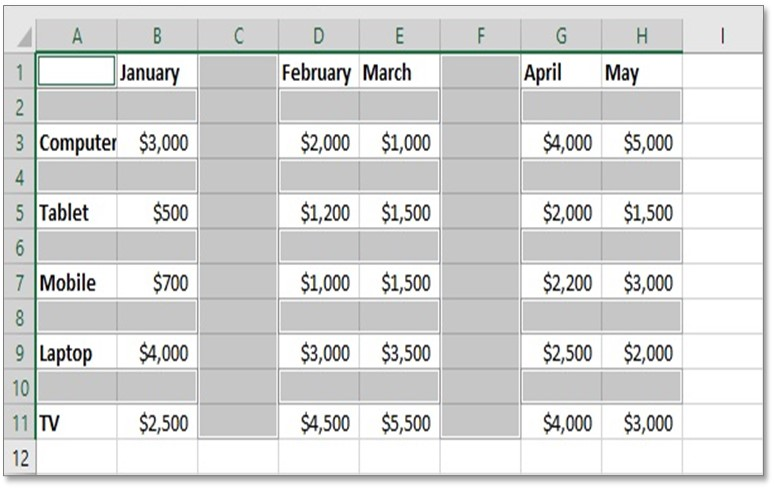 How to Delete blank cells in excel Remove Blank rows  column
