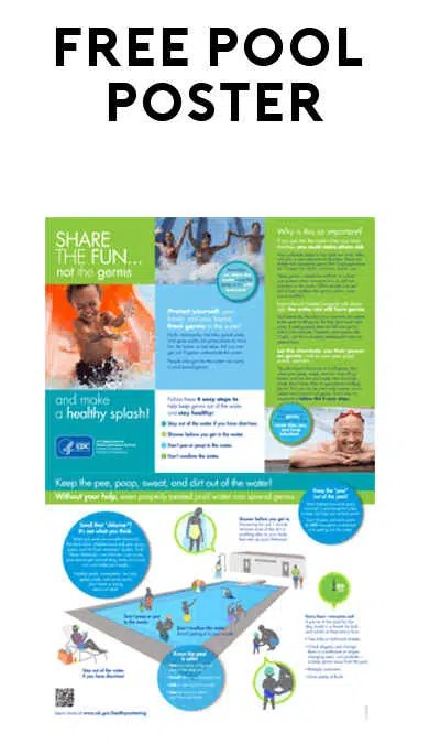 FREE Pool Chemical Safety Poster from American Chemistry/CDCgov - chemistry safety